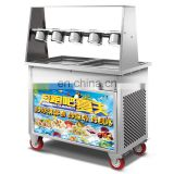 Hot Popular High Quality Thailand style roll fry ice cream machine cold stone marble slab top fry ice cream machine