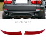 1 Pair Rear Rear Bumper Cover LH+RH Reflector (Red) ForBMW X5 E70 2011-2013
