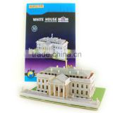 Wholesale Educational 3D DIY wooden puzzle model toy US.White House model