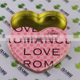 Heart shape Valentines Day gift tin box candy case metal chocolate can