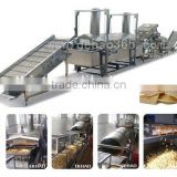 french fries making machine small snack food continuous frying machine