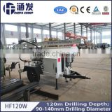 Welcomed in South America ! High Efficiency HF120W Trailer Hydraulic Portable Water Well Drill Equipment