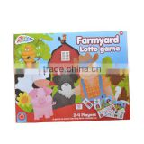 cardboard Farmyard lotto game cards for kids educational toy