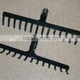 Hot sale platic garden rake head R106 and STEEL RAKE