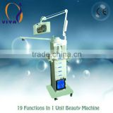 VY-1608A 19 in 1 multifunctional beauty equipment salon machine with rf diamond magnifier