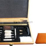 27-Piece Wooden Cased Universal Gun Cleaning Kit for Army or Civil Use Wholesale                                                                         Quality Choice