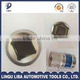 1 inch China Factory Manufacturer Mirror Chrome Plated CRV Square Socket Wrench With Trade Assurance