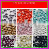 Wholesale Round Flat back ss6/ss10/ss16/ss20/ss30/ss40 Crystal AB Grade Stone Strone glue Hot fix Rhinestones