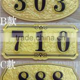 customized acrylic door logo sign holder hotel door number plates