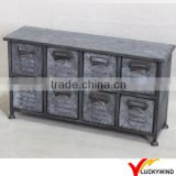 Cute Mini Vintage Industrial Furniture Metal Storage Cabinet                                                                         Quality Choice