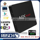 MX Plus Amlogic S905 Quad core 64Bit Android 5.1 smart TV BOX with 1GB/8GB BT4.0 4K Support WIFI Streaming Media Player
