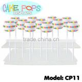 LUCITE CAKE POPS DISPLAY STAND - ACRYLIC CAKE POP SHELF HOLDER