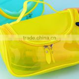 2016 Clear plastic toiletry bags,PVC travel organizer bags,light weight cosmetic pouch