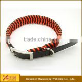 diy nylon dog collar metal buckle wholesale
