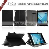 Top quality PU leather heat setting stand case for google nexus 9 with handstrap and pen holder
