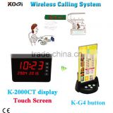 Wireless Buzzer Menu Holder Calling System Cafe Shop Menu-Holder Paging Table Calling Button For Restauranrt-Quickbell
