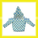 2016 Hot Sales Products Bros Baby Lion Blue Dots Pattern Unisex Long Sleeve White Zippered Autumn Warm Hoodie