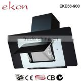 EKE56 Easy cleaning 90cm black and white glass chinese cooking range hood