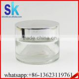 30g 50g whitening cream clear glass jar with gold metal lid                                                                                                         Supplier's Choice