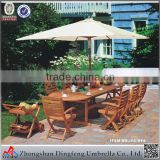 Stable cantilever parasol with marble base for outdoor garden / outdoor umbrella