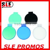 round shape plastic mirror logo printing compact mirror