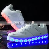 Trendy LED Light Shoes for Men Lace-up board Shoes