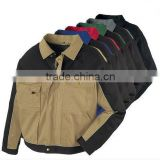 Cotton Mens Work Jacket With Strong Pockets, High Quality Canvas Work/tool Jackets With Badge Pocket