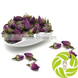 Top quality china in bulk dry herbal tea anti-aging adjust high blood pressure herb purple rose buds rose flower tea
