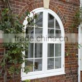 Modern house window for sale,PVC manual crank opening window grill design,PVC arch hand crank windows
