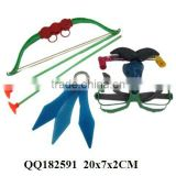 Bow and arrow play set, set toy, plastic toy