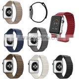 38mm Magnetic Leather loop watch strap for apple watch ,42mm Leather watch band for iwatch