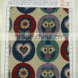 Factory Direct Owl Animal Print Fabric 57'' Yarn Dyed Jacquard Curtain Fabric Bag Fabric