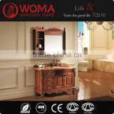 Classical Bathroom Furniture with Mirror Couboard Solid Wood Cabinet Marble Counter top No.6012
