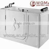 Q377 wholesale walkin tub with surround shower for elderly
