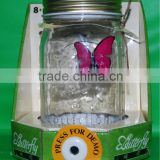 solar powered butterfly artificial flying butterfly in jar