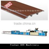 High Quality PVC PP PE Wooden Plastic Production Line Composite Wood Plastic skirting board Extruder
