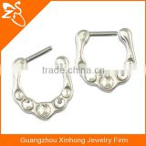 septum clickers indian nose ring nose piercing jewelry fashion body jewelry with charming crystals