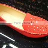 2015 shoes round head Europe and the United States Laser hole flat fashion women's shoes