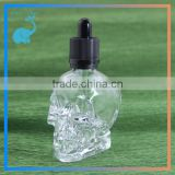 clear glass skull bottles with dropper pipette caps black dropper caps for eliquid