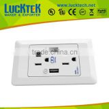 2*Gangs American power wall Socket outlet with 2*USB ports,wall plate socket,wall mount power
