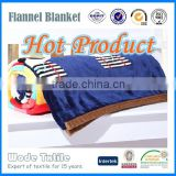 100% Polyester 1 Side Printed Super Soft Flannel Blanket/Faux Fur Throw Blanket