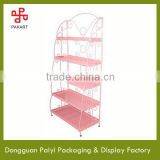 5 tiers floor standing counter top metal wire display tray for jewelry
