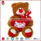 Valentine's Bear Hug Plush Toys/Soft Stuffed Toy for Valentine gifts/Plush Bear Red Heart lover toy