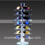 Custom size clear eye glass holder