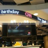 Indoor P7.62 Full Color Arbitrary Shape Screen Flexible Led Display Sign For Advertising