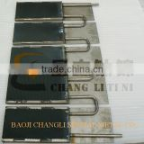 Lead oxide coating titanium anode with various tforms
