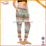 Jinhua YIZINA 95% Viscose 5% Spandex Wholesale Sublimation Prined Summer Beach Womens Baggy Harem Pants