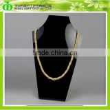 DDJ-0066 ISO9001 Chinese Manufacture Sells Custom Black Plastic Gold Necklace Display Stand