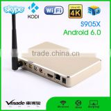 Aluminum case tv box Support latest KODI 16.1 with RAM 1GB DDR3 (2G optional)