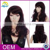 Machine made fashion rose wig silicone base long practice wig distributor